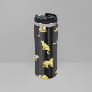 Cheetah Dark Stainless Steel Travel Mug