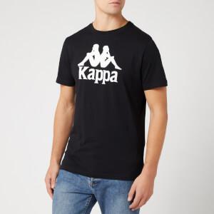 Kappa Men's Large Logo Short Sleeve T-Shirt - Black