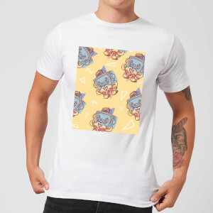 Cassette Tape Love Pattern Men's T-Shirt - White
