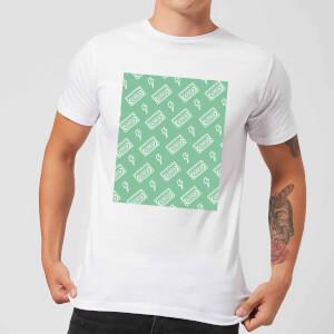 VHS Tape Pattern Green Men's T-Shirt - White