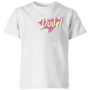 Dude! Pocket Print Kids' T-Shirt - White