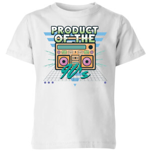 Product Of The 90's Boom Box Kids' T-Shirt - White