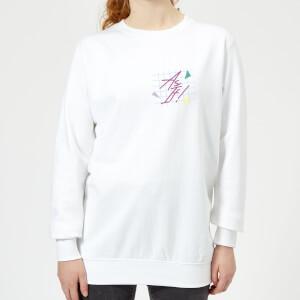 As If! Pocket Print Women's Sweatshirt - White
