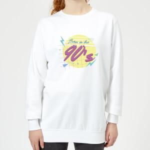 Born In The 90's Women's Sweatshirt - White