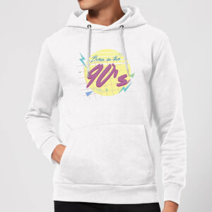 Born In The 90's Hoodie - White