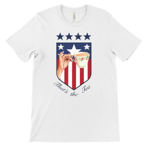 'That's the Tea' USA World Cup Badge T-Shirt - White