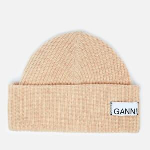 Ganni Women's Knitted Beanie - Tapioca