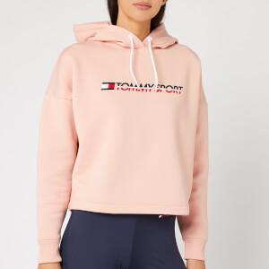 Tommy Hilfiger Sport Women's Cropped Fleece Hoody - Dusty Pink