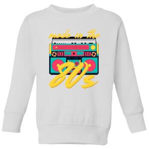 Made In The 80s Boombox Kids' Sweatshirt - White