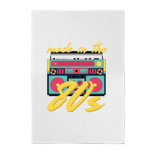 Made In The 80s Boombox Cotton Tea Towel