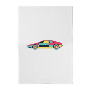 Classic Sports Car Cotton Tea Towel