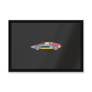 Classic Sports Car Entrance Mat