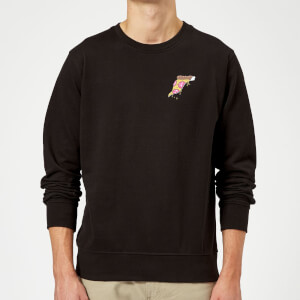 Small Dripping Pizza Sweatshirt - Black