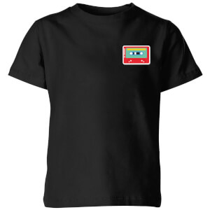 Small Cassette Tape Kids' T-Shirt - Black