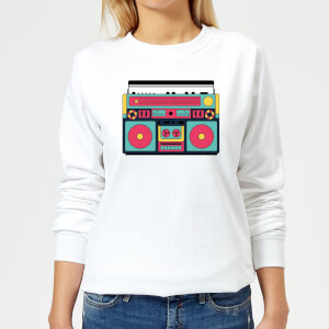 Colourful Boombox Women's Sweatshirt - White