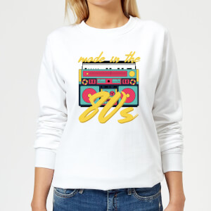 Made In The 80s Boombox Women's Sweatshirt - White