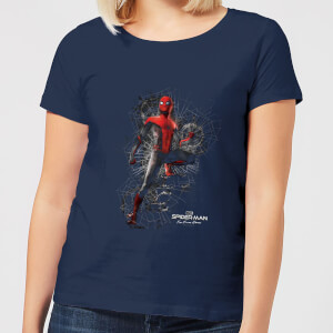 Spider-Man Far From Home Upgraded Suit Women's T-Shirt - Navy