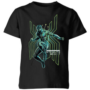 T-Shirt Spider-Man Far From Home Stealth Jump - Nero - Bambini