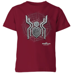 Spider-Man Far From Home Web Icon Kids' T-Shirt - Burgundy