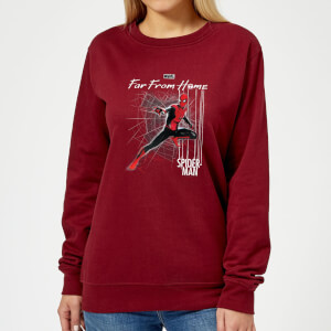 Spider-Man Far From Home Web Tech Women's Sweatshirt - Burgundy