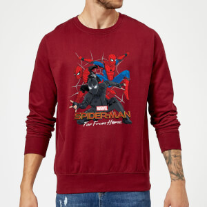 Spider-Man Far From Home Multi Costume Sweatshirt - Burgundy