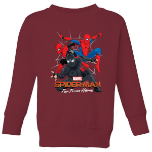 Spider-Man Far From Home Multi Costume Kids' Sweatshirt - Burgundy