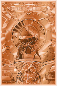 Star Wars: Return of the Jedi 'Shiny Return' 24 x 36 Inch Limited Edition Silkscreen Print by Steve Thomas