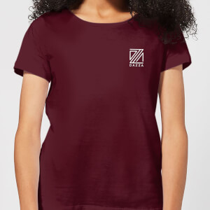 Dazza Pocket Text Women's T-Shirt - Burgundy
