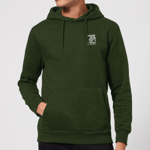 Dazza Pocket Text Hoodie - Forest Green