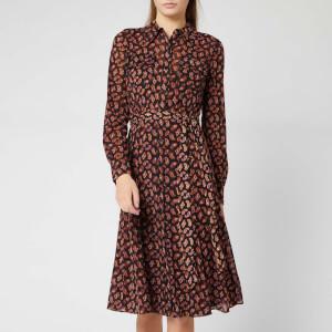 Diane von Furstenberg Women's Andi Midi Dress - Tie Paisley Black