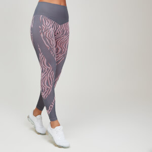 Animal Print Seamless Women's Leggings - Candy/Slate