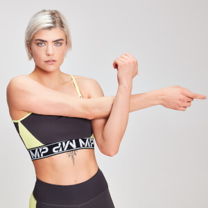 MP Damen Colour Block Branded Crop Top - Slate