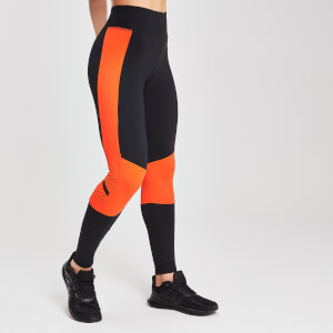 MP Damen Colour Block Branded Sports Leggings - Schwarz
