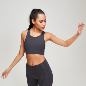 MP Textured Training Women's Sports Bra - Grå