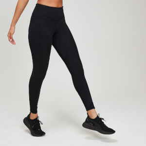 Textured Training Women's Leggings - Black