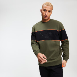 MP Rest Day Men's Stripe Sweatshirt - Army Green