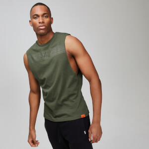 MP Rest Day Men's Drop Armhole Tank Top - Army Green