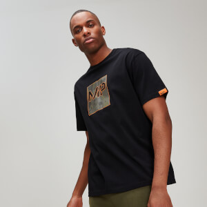Rest Day Camo Square T-Shirt - Black