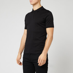 Emporio Armani Men's Mercerized Polo Shirt - Black