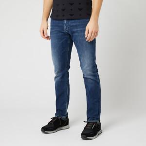 Emporio Armani Men's Mid Blue Jeans - Blue