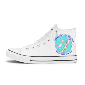 Rick and Morty Summer And Tinkles Shoes - White