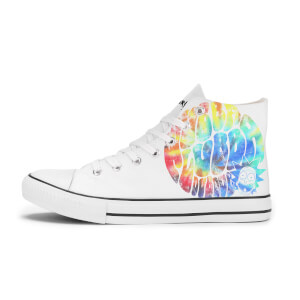 Rick and Morty Wubba Lubba Dub Dub Rainbow Shoes - White
