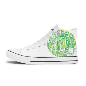 Rick and Morty Wubba Lubba Dub Dub Shoes - White