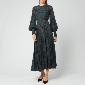 ROTATE Birger Christensen Women's Number 19 Dress - Wild Flower AOP Black Combo