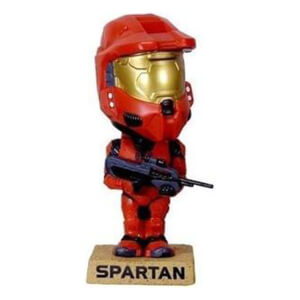 Funko Wacky Wobbler Halo 3 Spartan Soldier (Red) SDCC 2008 Exclusive