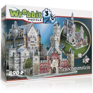 Wrebbit Neuschwanstein Castle 3D Puzzle (890 Pieces)