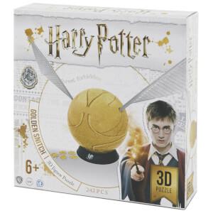 Harry Potter 6 Inch Golden Snitch 3D Puzzle (242 Pieces)