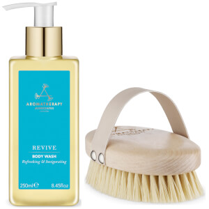 Aromatherapy Associates Exclusive Revive Body Brush and Revive Body Wash Value Gift Set 250ml