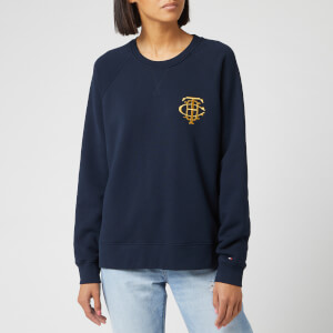 Tommy Hilfiger Women's Essential Long Sleeve Raglan Sweatshirt - Sky Captain