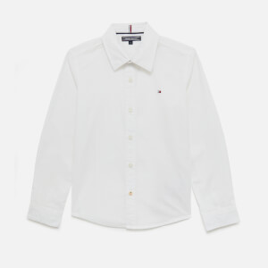 Tommy Kids Boys' Stretch Poplin Shirt - Bright White